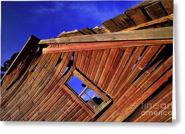 Prairie Photo Greeting Cards - Old Red Barn Greeting Card by Bob Christopher