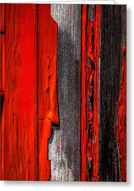 Old Red Barn Four Greeting Card by Bob Orsillo