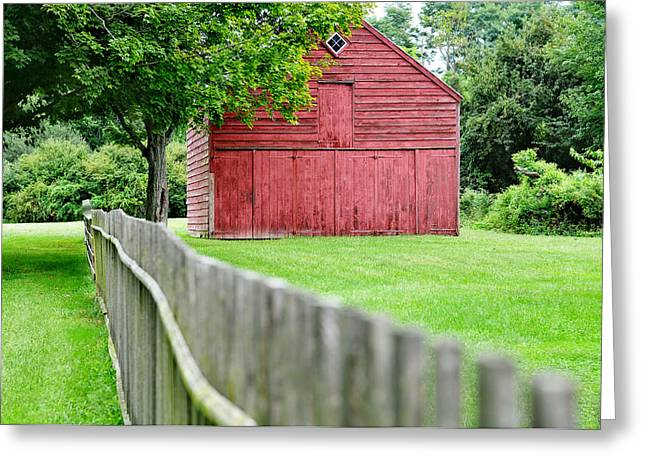 Barn Yard Greeting Cards - Old Red Barn Il Greeting Card by Laura  Fasulo