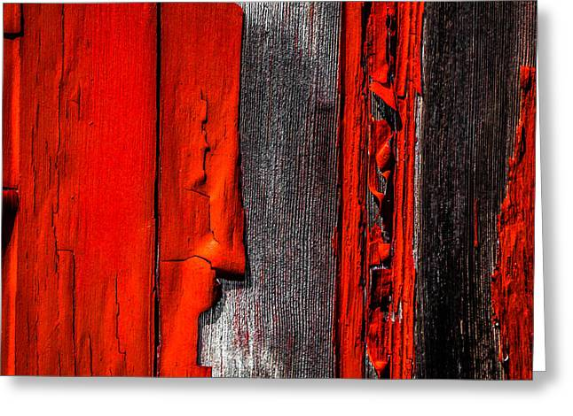 Canon 6d Greeting Cards - Old Red Barn One Greeting Card by Bob Orsillo