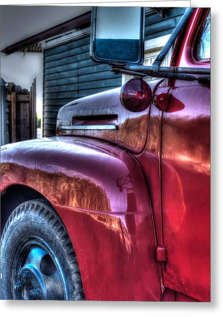 Old Truck Photography Greeting Cards - Old Red Ford  Greeting Card by Tamara Dattilo