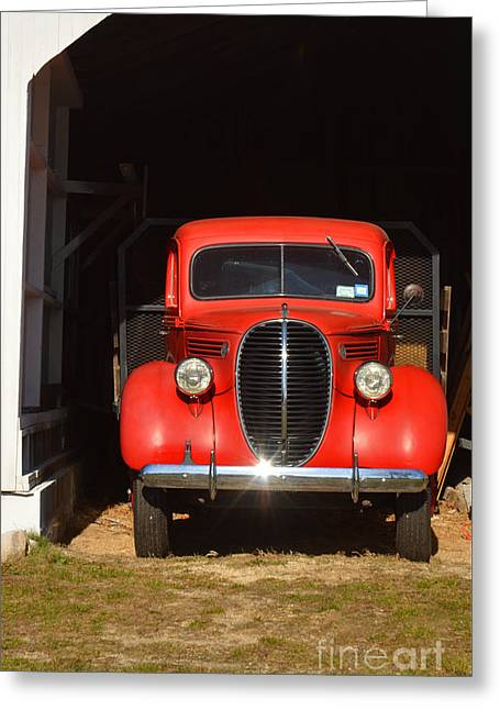 North Fork Digital Greeting Cards - Old Red Truck Photography Greeting Card by ArtyZen Studios - ArtyZen Home