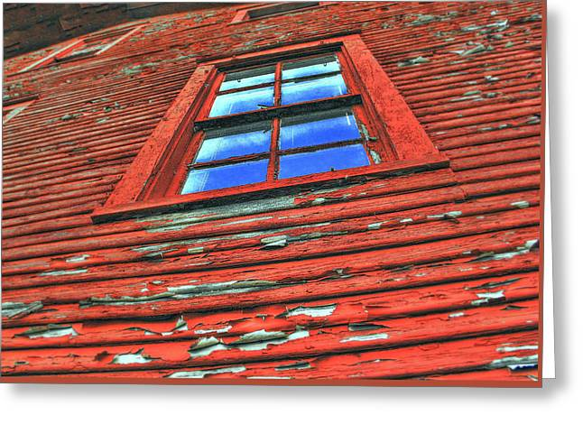 Carter House Greeting Cards - Old Reds Window Greeting Card by Todd Carter