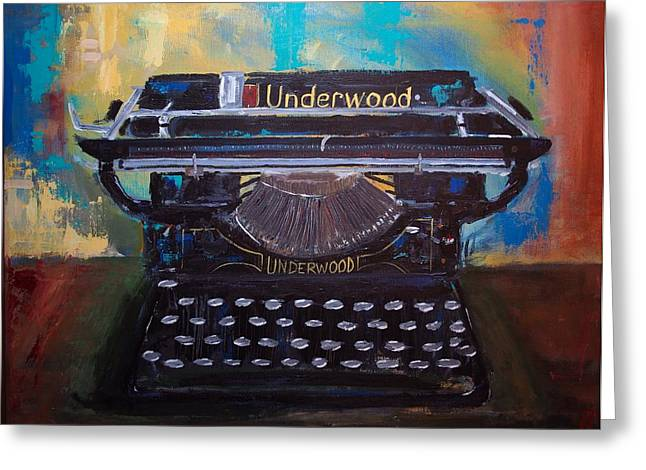 Typewriter Paintings Greeting Cards - Old Reliable Greeting Card by Paul Piasecki