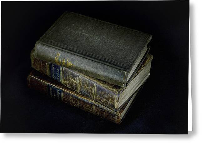 Scripture Reading Greeting Cards - Old Religious Books Greeting Card by Geoffrey Coelho