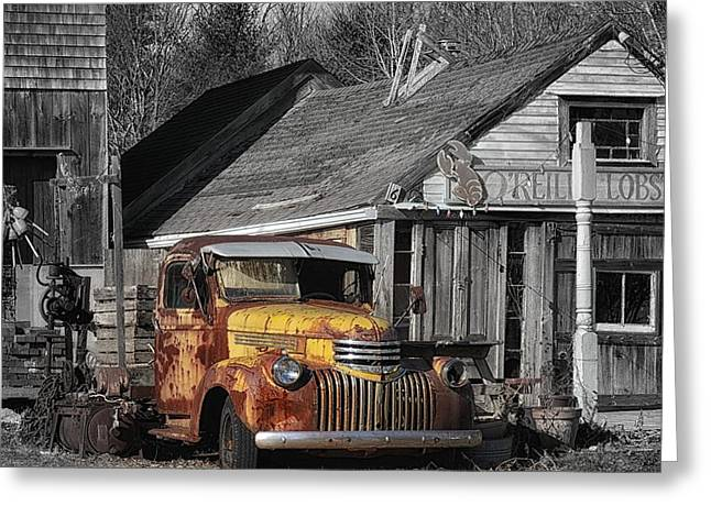 Maine Farms Digital Greeting Cards - Old Ride Greeting Card by Tricia Marchlik
