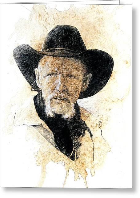 Scottsdale Art League Greeting Cards - Old Rider Greeting Card by Debra Jones