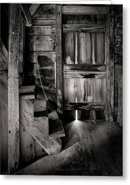 East Hampton Greeting Cards - Old Room - Rustic - inside the windmill Greeting Card by Gary Heller