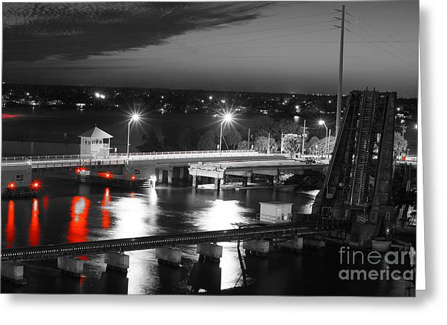 Fec Greeting Cards - Old Roosevelt Bridge and Comet Pan-STARRS Greeting Card by Lynda Dawson-Youngclaus