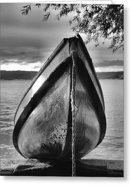 Row Boat Greeting Cards - Old Rowboat Greeting Card by Steven Ainsworth