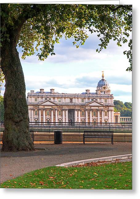 Royal Naval College Greeting Cards - Old Royal Naval College Greenwich Greeting Card by Gill Billington