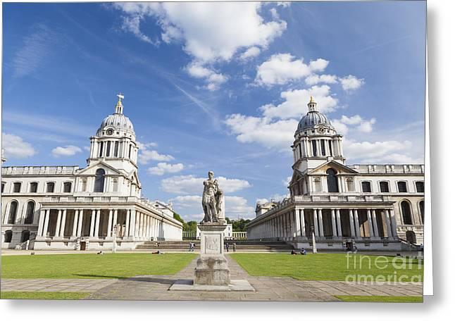 Royal Naval College Greeting Cards - Old royal naval college in Greenwich Greeting Card by Roberto Morgenthaler