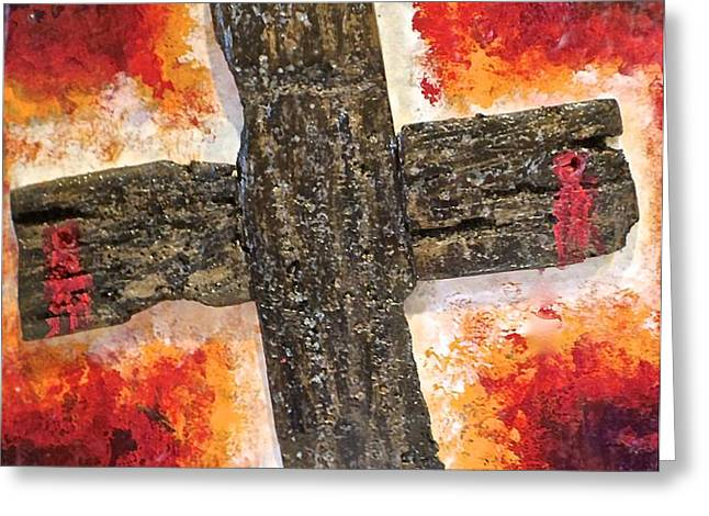 Old Rugged Cross Greeting Card by Jim Ellis