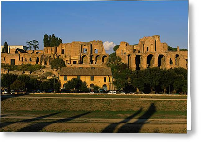 Civilization Greeting Cards - Old Ruins Of A Building, Roman Forum Greeting Card by Panoramic Images