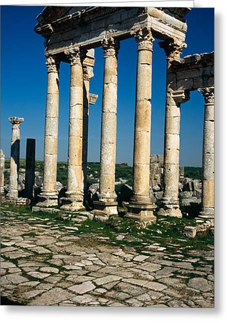 Civilization Greeting Cards - Old Ruins Of A Built Structure Greeting Card by Panoramic Images