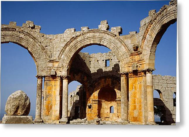 Civilization Greeting Cards - Old Ruins Of A Church, St. Simeon Greeting Card by Panoramic Images