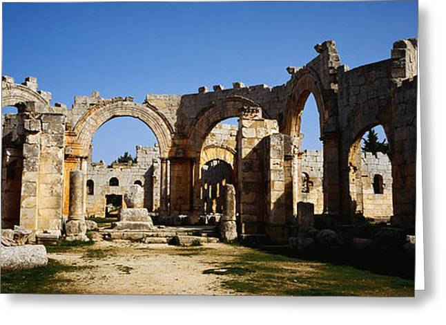 Simeon Greeting Cards - Old Ruins Of A Church, St. Simeon The Greeting Card by Panoramic Images