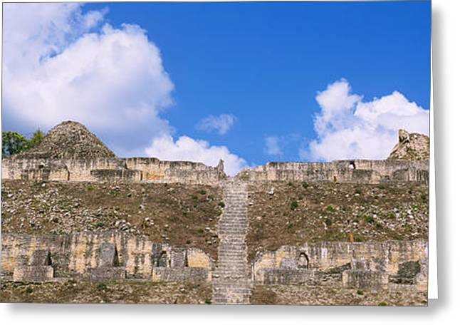 Belize Greeting Cards - Old Ruins Of A Temple, El Caracol, Cayo Greeting Card by Panoramic Images