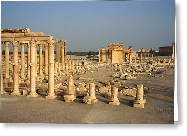 Civilization Greeting Cards - Old Ruins Of A Temple, Temple Of Bel Greeting Card by Panoramic Images