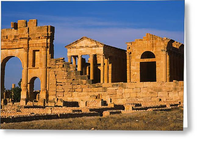 Tunisia Greeting Cards - Old Ruins Of Buildings In A City Greeting Card by Panoramic Images