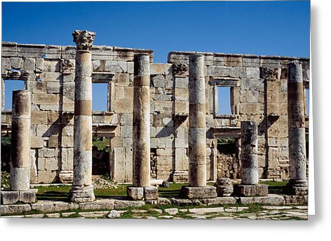 Civilization Greeting Cards - Old Ruins On A Landscape, Cardo Greeting Card by Panoramic Images