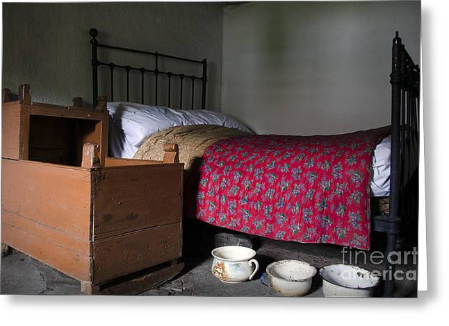 Vintage Potty Greeting Cards - Old rural Irish Bedroom Greeting Card by RicardMN Photography