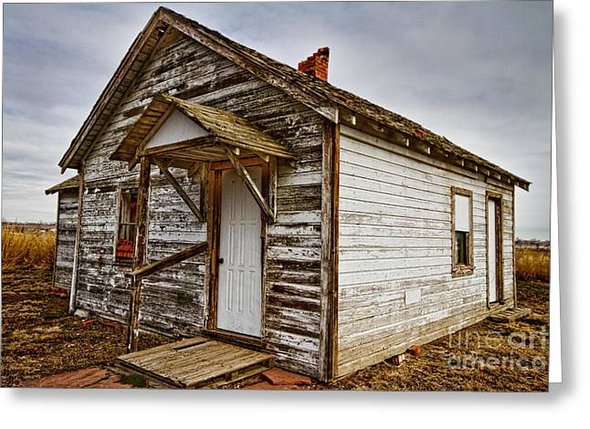 Old Rustic Rural Country Farm House Greeting Card by James BO  Insogna