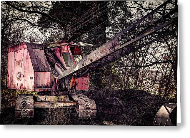 Old Rusty Excavator Greeting Card by Mountain Dreams