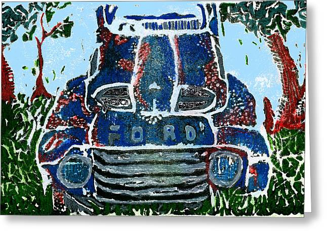 Jame Hayes Digital Art Greeting Cards - Old Rusty Ford Greeting Card by Jame Hayes