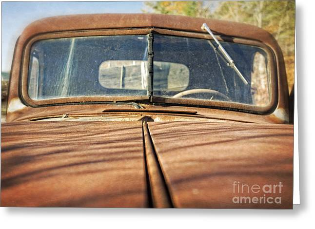 Pick-ups Greeting Cards - Old Rusty Pickup Truck Greeting Card by Edward Fielding