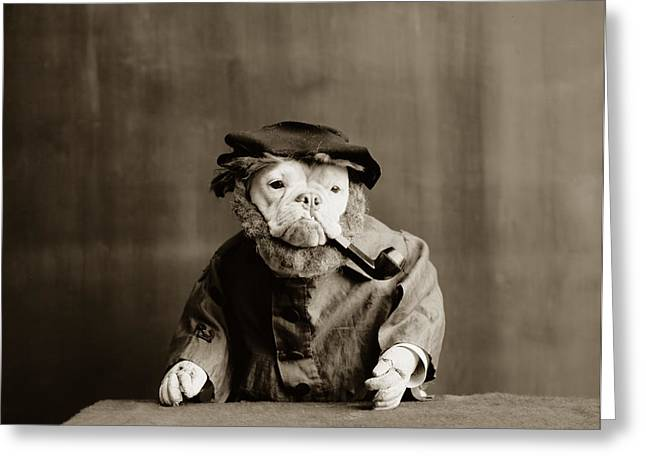 Dog Photographs Greeting Cards - Old Sailor Circa 1905 Greeting Card by Aged Pixel