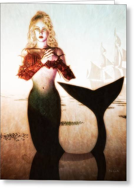 Mermaid Lovers Greeting Cards - Old Sailors Dream - The Mermaid Greeting Card by Bob Orsillo
