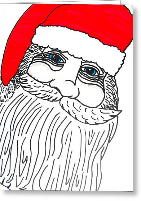 Old Saint Nick Greeting Cards - Old Saint Nick Greeting Card by Jo-Ann Hayden