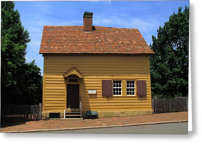Charming Cottage Greeting Cards - Winston-Salem NC - Old Salem Store Greeting Card by Frank Romeo