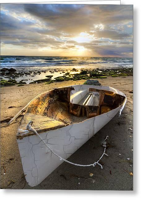 Ocean Sailing Greeting Cards - Old Salty Greeting Card by Debra and Dave Vanderlaan
