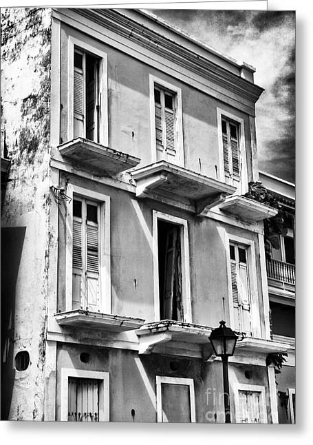 Abandoned School House. Greeting Cards - Old San Juan Architecture Greeting Card by John Rizzuto