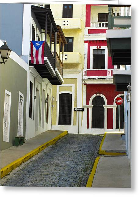 Old Home Place Greeting Cards - Old San Juan Greeting Card by Carter Jones