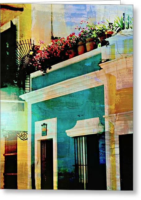 Puerto Rico Greeting Cards - Old San Juan  Greeting Card by Diana Angstadt