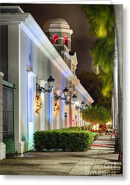 Old San Juan Holiday Impression II Greeting Card by George Oze