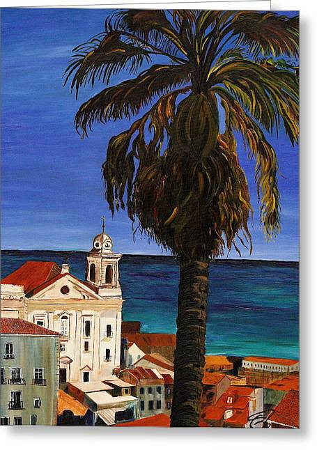 Old San Juan Ruerto Rico  Greeting Card by Impressionism Modern and Contemporary Art  By Gregory A Page