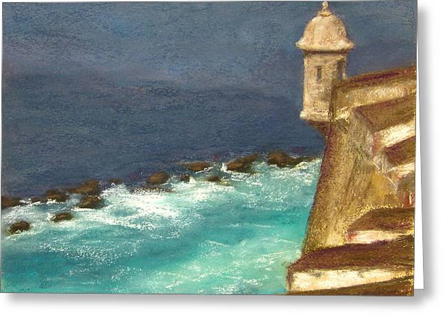 Puerto Rico Pastels Greeting Cards - Old San Juan Greeting Card by Stacey David
