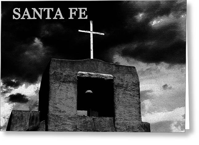Santa Fe Digital Art Greeting Cards - Old Santa Fe Greeting Card by David Lee Thompson