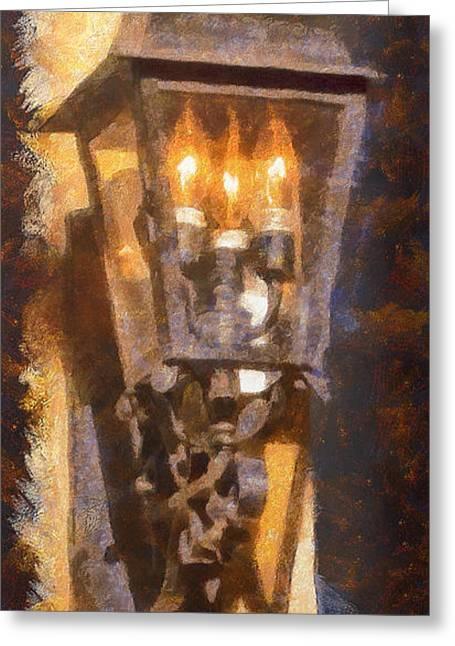 Dap Greeting Cards - Old Santa Fe Lamp Greeting Card by Michael Flood
