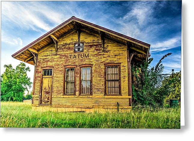 Old Train Greeting Cards - Old Santa Fe Train Depot Greeting Card by Geoff Mckay