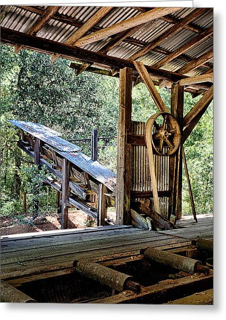 Tin Planes Greeting Cards - Old Sawmill Conveyor Greeting Card by Betty Depee