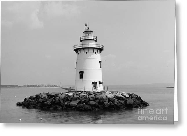 Saybrook Greeting Cards - Old Saybrook Connecticut Lighthouse Greeting Card by Edward Fielding