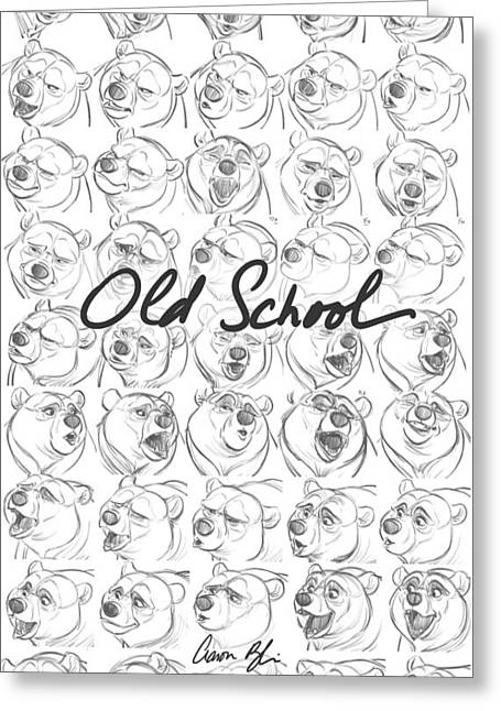 Old School Greeting Card by Aaron Blaise