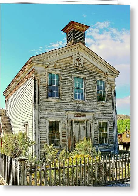 Old School House Photographs Greeting Cards - Old School House Bannack Ghost Town Montana Greeting Card by Jennie Marie Schell