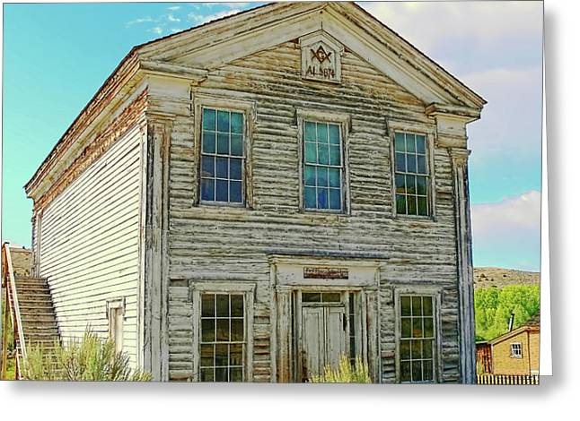 Old School House Bannack Ghost Town Montana Greeting Card by Jennie Marie Schell