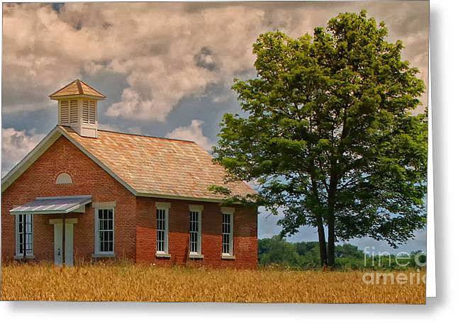 One Room School Greeting Cards - Old School House Greeting Card by Brian Mollenkopf